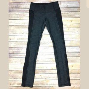 Lululemon Yoga Pants Leggings Gray w/ Black Panels